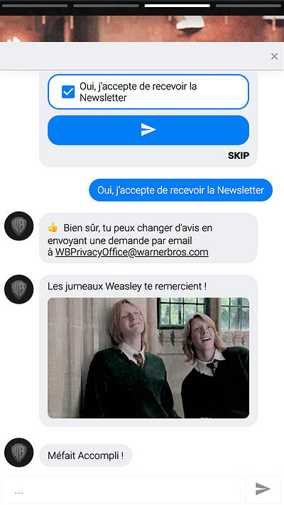 Bot conversationnel